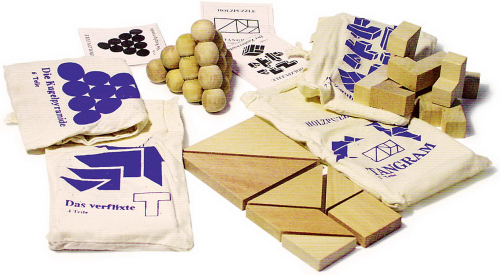 Holzpuzzle Set
